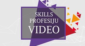 Video par SkillsLatvia profesijām